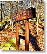 Catoctin Trail Sign Metal Print