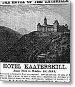 Catskills Hotel, 1884 Metal Print
