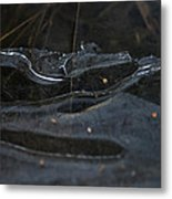 Caution Icy Curves Ahead Metal Print