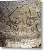 Cave Art - Mammoth And Ibexes Metal Print