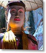 Cave Buddha Metal Print