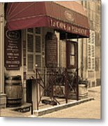 Cave Du Paradoxe Wine Shop In Beaune France Metal Print
