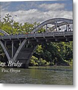 Caveman Bridge With Text Metal Print