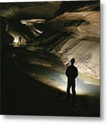 Cavers Stand In The New Discover Metal Print by Stephen Alvarez