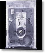 Cd Drive, Simulated X-ray Metal Print by Mark Sykes