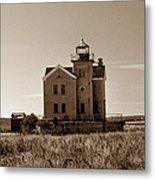 Cedar Island Lighthouse Metal Print