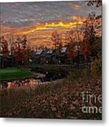 Cedar River Sunrise Metal Print