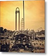 #cedarpoint #ohio #ohiogram #amazing Metal Print by Pete Michaud