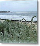 Celadon Seascape Metal Print