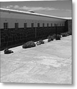 Prison Cell Row Metal Print