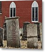 Cemetery And Church Metal Print