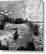Cemetery And Pastures Metal Print