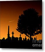 Cemetery And Tree Metal Print