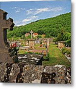 Cemetery In France Metal Print