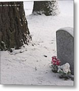 Cemetery In Winter Metal Print