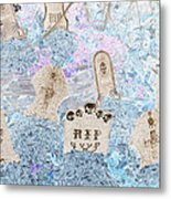 Cemetery Invert Metal Print