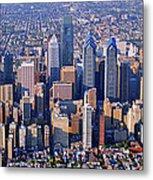 Center City Aerial Photograph Skyline Philadelphia Pennsylvania 19103 Metal Print