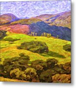 Central Coast Wine Country Metal Print