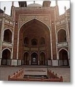 Central Cross Section Of Humayun Tomb In Delhi Metal Print