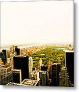Central Park And The New York City Skyline From Above Metal Print