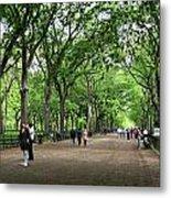 Central Park Arbor Walk Spring Metal Print