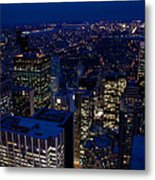 Central Park At Night Metal Print