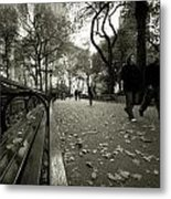 Central Park Bench Metal Print