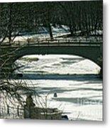 Central Park Bridge-winter Metal Print