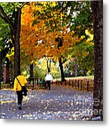 Central Park Fall Walk Metal Print