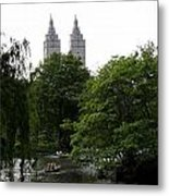 Central Park Pond Metal Print