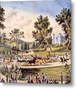 Central Park, The Grand Drive Metal Print