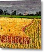 Central Pennsylvania Summer Wheat Metal Print by Bob Richey