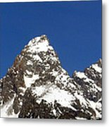 Central Teton Mountain Peak Metal Print