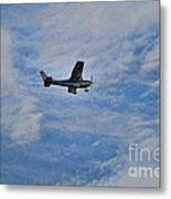 Cessna In Flight Metal Print