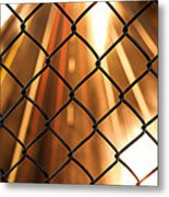 Chain-link And Light Lines Metal Print