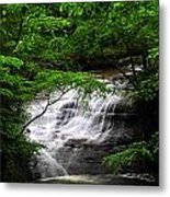 Chair Factory Falls Metal Print