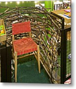 Chair In A Bookstore Metal Print