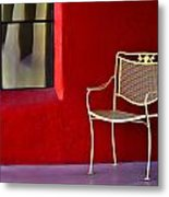 Chair On The Balcony Metal Print
