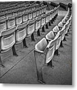 Chair Seating In An Arena With Oak Leaf Metal Print