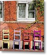 Chairs At Hamlyn Metal Print