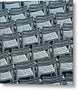 Chairs In Chicago No.4632 Metal Print
