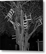 Chairy Tree Metal Print