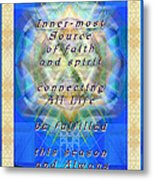 Chalice Star Over Three Kings Holiday Card Light With Text Metal Print