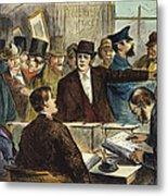 Challenging A Voter, 1872 Metal Print