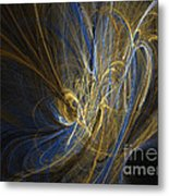 Champagne - Abstract Art Metal Print