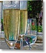 Champagne At The Beach Metal Print
