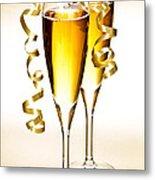 Champagne Glasses Metal Print