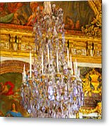 Chandelier At Versailles Metal Print