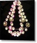 Chandelier From Pearls Metal Print