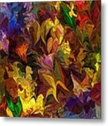 Chaotic Canvas Metal Print